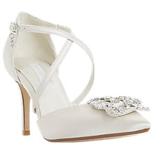 Buy Dune Bridal Collection Deeana Cross Strap Court Shoes, Ivory Online at johnlewis.com