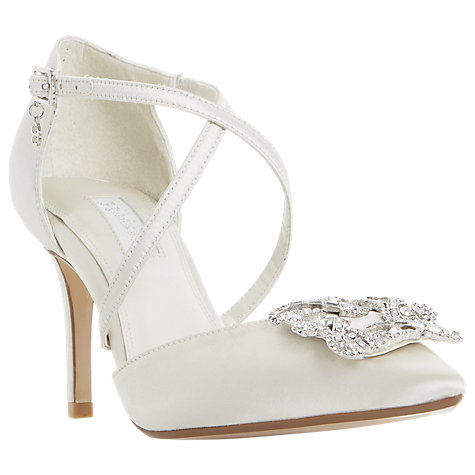 buy dune bridal collection deeana cross strap court shoes ivory online at johnlewiscom