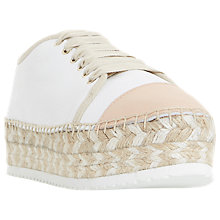 Buy Dune Favour Espadrille Flatform Trainers Online at johnlewis.com