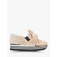 Buy Dune Black Euphoria Bow Detail Slip On Flatform Shoes Online at johnlewis.com