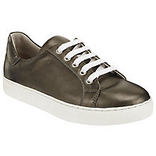 Buy John Lewis Elsie Lace Up Trainers, Metallic Gold Leather Online at johnlewis.com