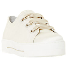 Buy Dune Black Evalina Satin Eyelet Lace Up Flatform Trainers Online at johnlewis.com