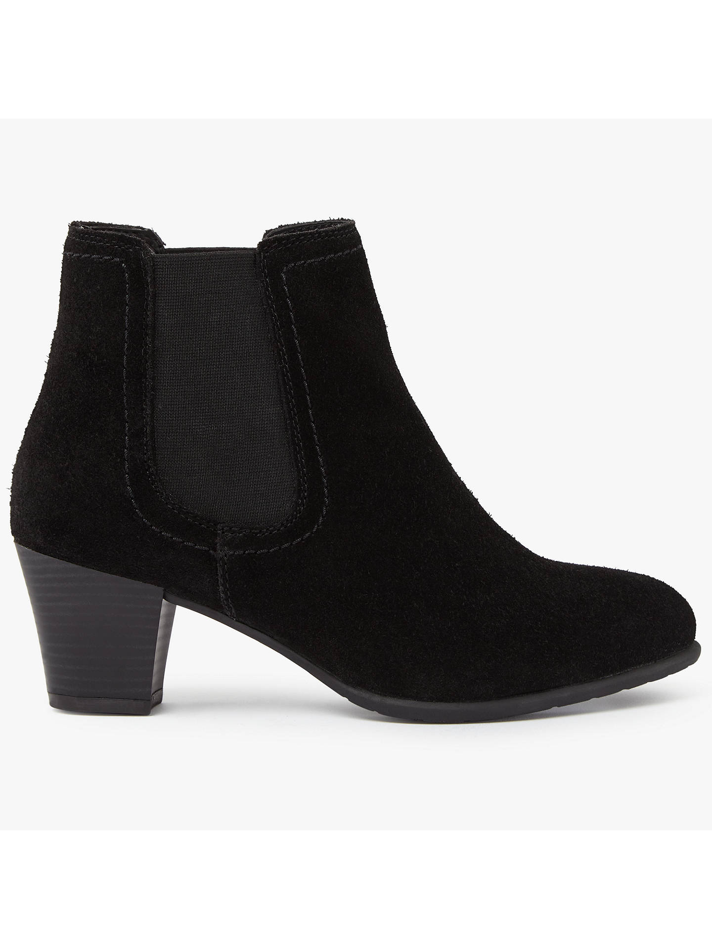 d990fcc13 Buy John Lewis Faith Block Heeled Ankle Chelsea Boots, Black Suede, 3  Online at ...