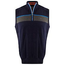 Buy Calvin Klein Golf Champion Half-Zip Knitted Vest, Navy Online at johnlewis.com