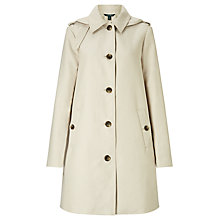 Buy Lauren Ralph Lauren Water Resistant A-Line Coat, Stone Online at johnlewis.com