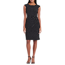 Buy Lauren Ralph Lauren Polka Dot Print Dress, Black/Colonial Cream Online at johnlewis.com