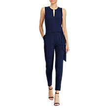 Buy Lauren Ralph Lauren Stretch Jersey Jumpsuit, True Indigo Online at johnlewis.com