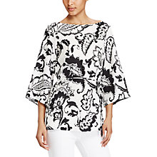 Buy Lauren Ralph Lauren Paisley Print Crepe Tunic Top, Pearl/Black Online at johnlewis.com
