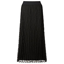 Buy Marella Nef Pleated Lace Skirt, Black Online at johnlewis.com