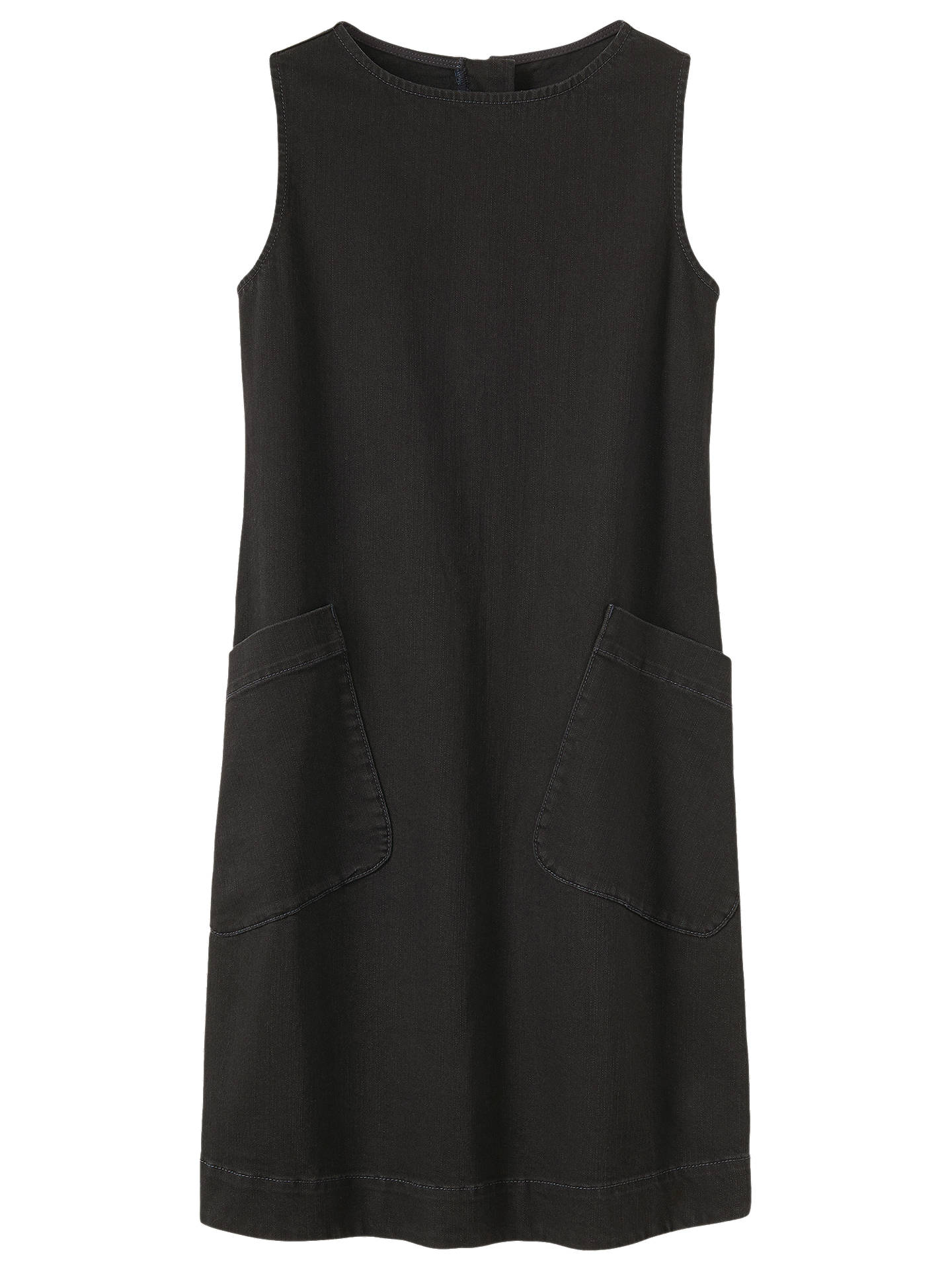 Toast Dora Sleeveless Denim Dress, Black at John Lewis ...