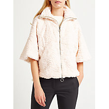 Buy Marella Fontana Faux Fur Cape, Beige Online at johnlewis.com