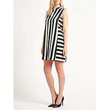 Buy Marella Berlino Sleeveless Stripe Dress, Black/White Online at johnlewis.com