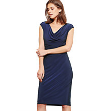 Buy Lauren Ralph Lauren Cowl Neck Stretch Jersey Dress, Lighthouse Navy Online at johnlewis.com