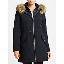 Buy Gerry Weber Hooded Parka Coat, Indigo Online at johnlewis.com