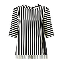 Buy Marella Riva Stripe Blouse, Black/White Online at johnlewis.com