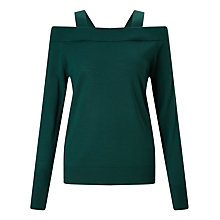 Buy Marella Agadir Cold Shoulder Knit, Green Online at johnlewis.com