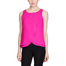 Buy Lauren Ralph Lauren Sleeveless Georgette Top, Pink Online at johnlewis.com
