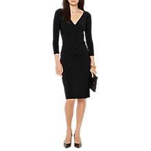 Buy Lauren Ralph Lauren Wrap Jersey Dress, Polo Black Online at johnlewis.com