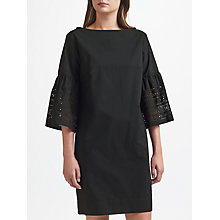 Buy Lauren Ralph Lauren Kadijah Laser Cut Shift Dress, Polo Black Online at johnlewis.com