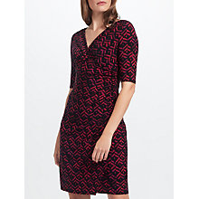 Buy Lauren Ralph Lauren Floral Print Jersey Dress, Blackberry/Multi Online at johnlewis.com