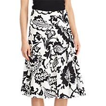 Buy Lauren Ralph Lauren Paisley Print Crepe Skirt, Pearl/Black Online at johnlewis.com