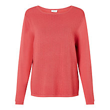 Buy Gerry Weber Long Sleeve Textured Jumper, Raspberry Online at johnlewis.com