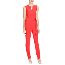 Buy Lauren Ralph Lauren Stretch Jersey Jumpsuit, Fresh Tomato Online at johnlewis.com