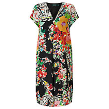 Buy Lauren Ralph Lauren Kokichi Floral Print Dress, Black Multi Online at johnlewis.com