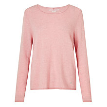 Buy Gerry Weber Long Sleeve Cashmere Jumper, Blush Melange Online at johnlewis.com