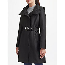 Buy Lauren Ralph Lauren Asym Raincoat, Black Online at johnlewis.com