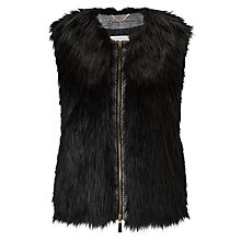 Buy Marella Cupido Faux Fur Gilet, Black Online at johnlewis.com