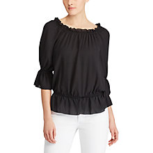 Buy Lauren Ralph Lauren Off The Shoulder Blouse, Polo Black Online at johnlewis.com