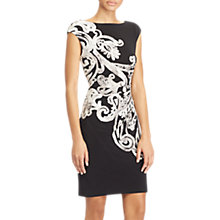 Buy Lauren Ralph Lauren Scroll Print Jersey Dress, Black/Grey Online at johnlewis.com