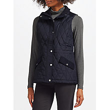 Buy Lauren Ralph Lauren Melton Quilted Gilet, Dark Navy Online at johnlewis.com