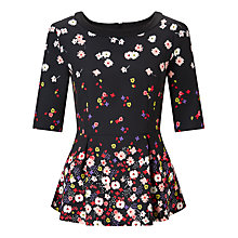 Buy Marella Bino Floral Print Top, Black Online at johnlewis.com