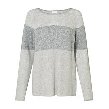 Buy Gerry Weber Long Sleeve Block Stripe Jumper, Grey Online at johnlewis.com