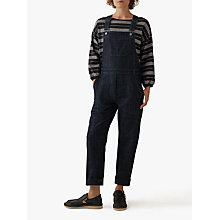 Buy Toast Stretch Denim Dungarees, Indigo Online at johnlewis.com