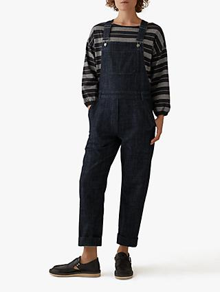 Toast Stretch Denim Dungarees, Indigo