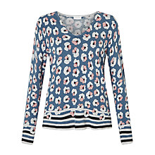 Buy Gerry Weber V-Neckline Knit Jumper, Blue Online at johnlewis.com