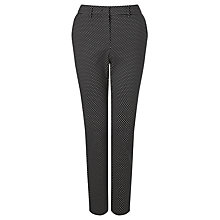 Buy Marella Guido Jacquard Spot Trousers, Black/White Online at johnlewis.com