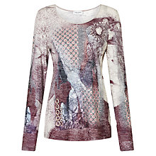 Buy Gerry Weber Scoop Neck Burnout T-Shirt, Multi Online at johnlewis.com