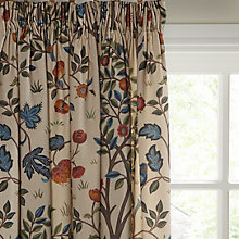 Buy Morris & Co Kelmscott Tree Lined Pencil Pleat Curtains, Multi Online at johnlewis.com