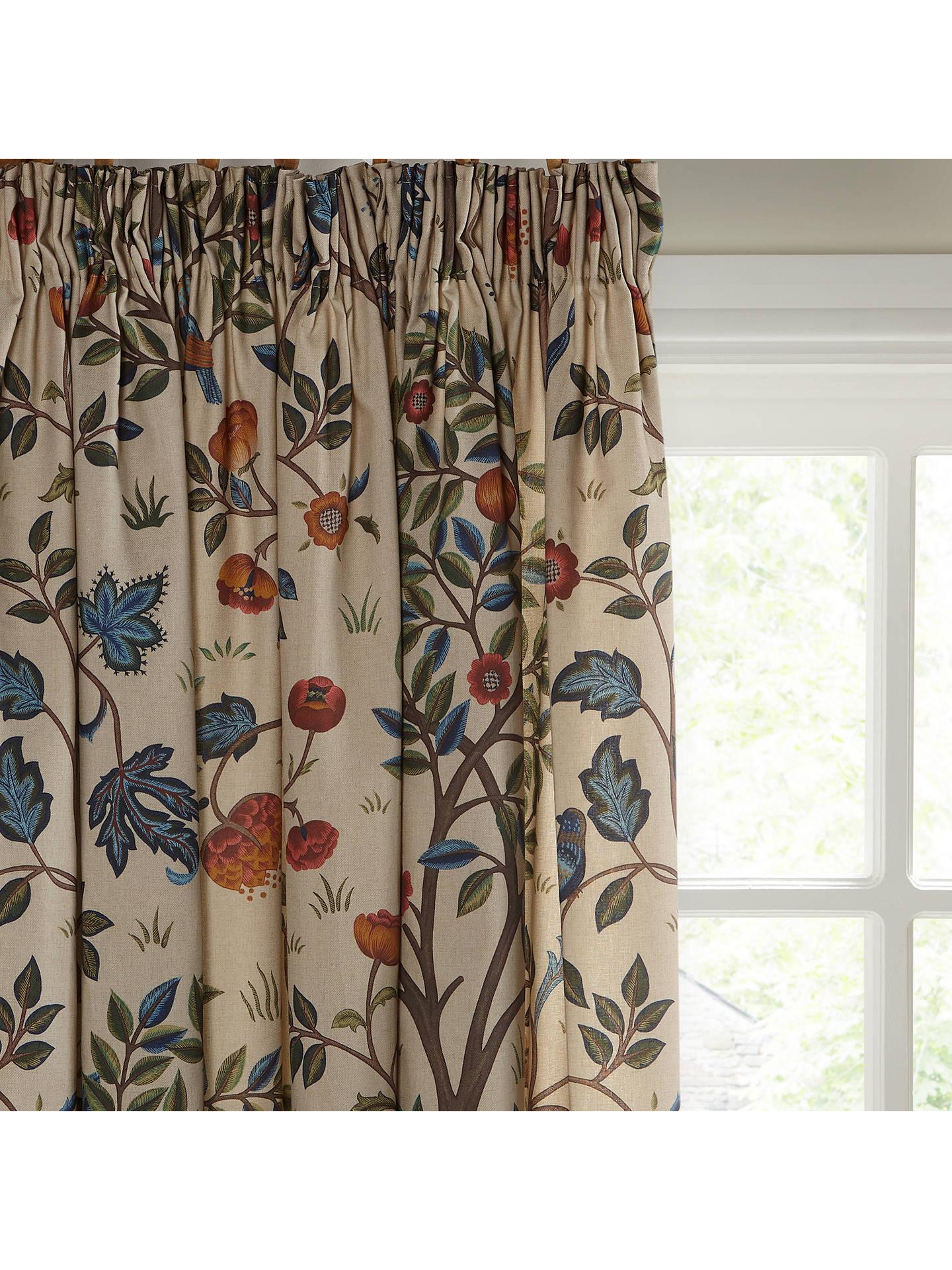 Buy Morris Co Kelmscott Tree Pair Lined Pencil Pleat Curtains Multi W167
