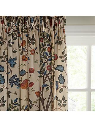 Morris & Co. Kelmscott Tree Pair Lined Pencil Pleat Curtains, Multi