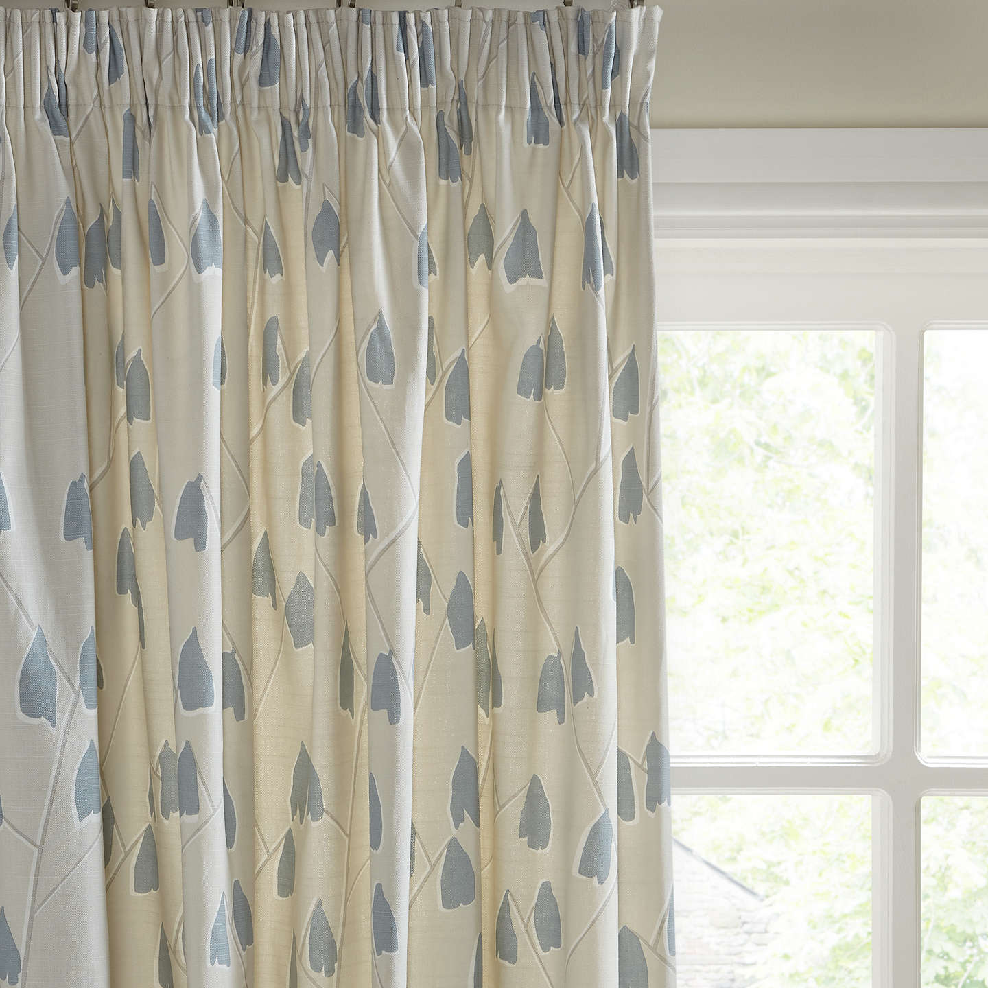 Buyjohn Lewis Lotta Pair Lined Pencil Pleat Curtains, Putty Blue,