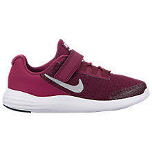 Buy Nike Children's Lunar Coverage PS Rip-Tape Trainers, Berry Online at johnlewis.com