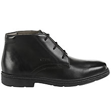 Buy Geox Children's Federico Boots, Black Leather Online at johnlewis.com
