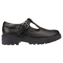 Buy Geox Children's Casey T-Bar School Shoes, Black Online at johnlewis.com
