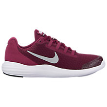 Buy Nike Children's Lunar Coverage GS Rip-Tape Trainers, Berry Online at johnlewis.com