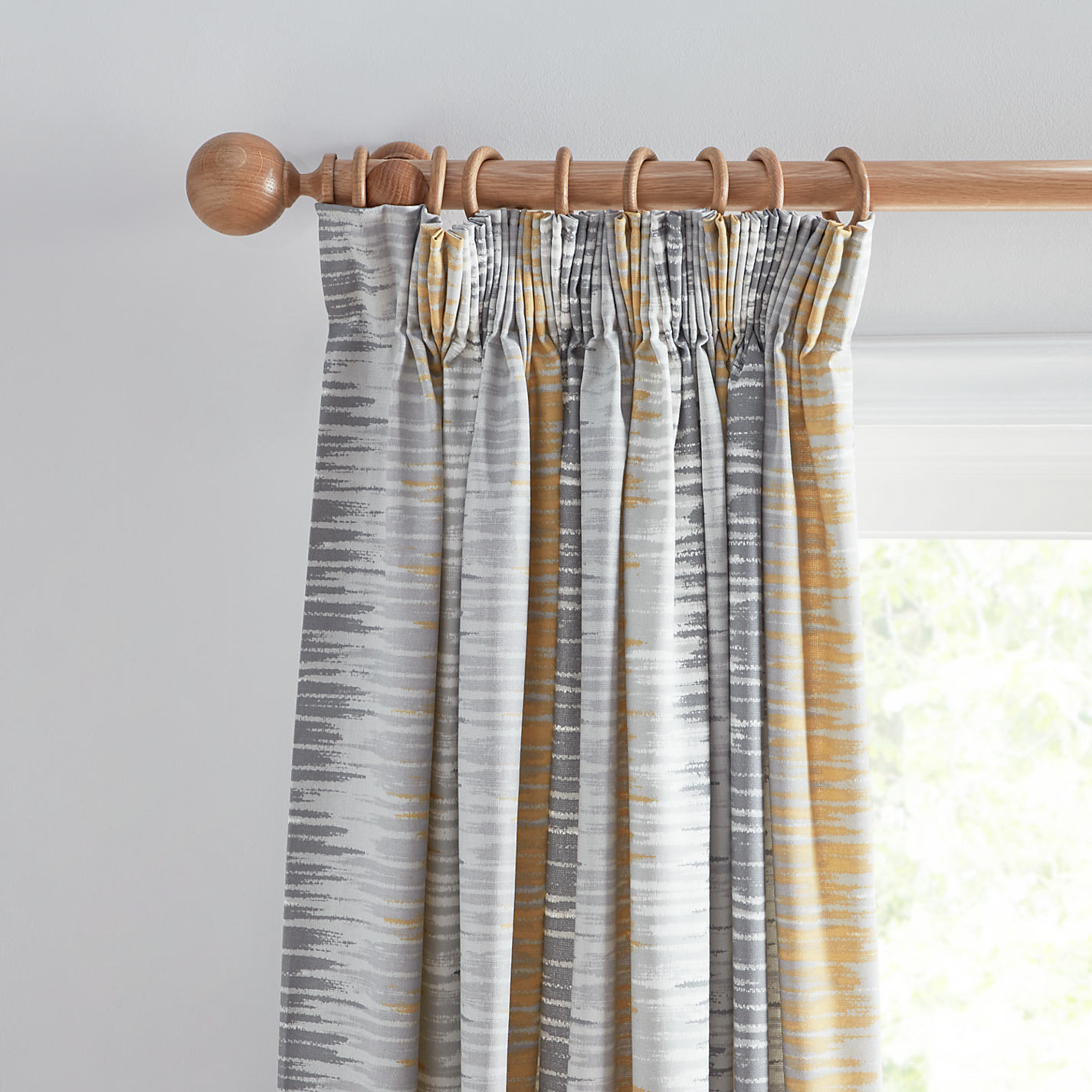 Grey and yellow curtains uk john lewis -  Buy John Lewis Ikat Lined Pencil Pleat Curtains Online At Johnlewis Com